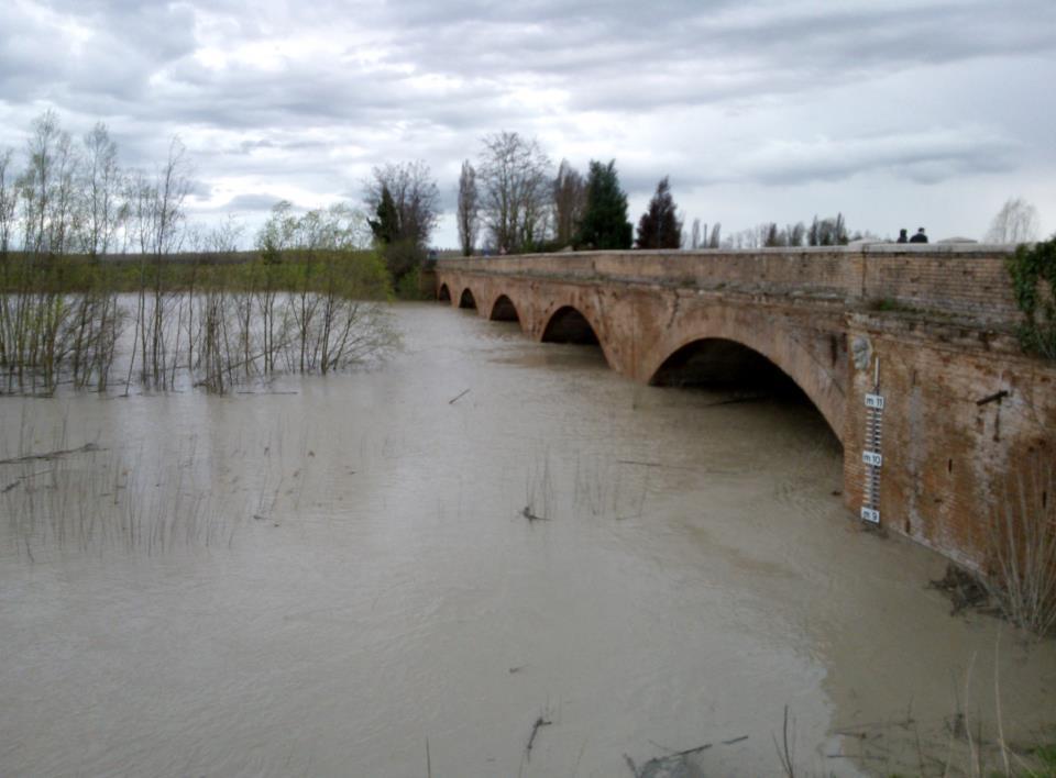 Allerta idro fiume Secchia