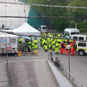 la segreteria dei volontari di protezione civile