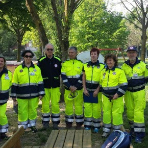 Materna Andersen: prova evacuazione, il gruppo dei volontari che hanno preso parte alla prova