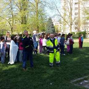 Elementare Pertini: prova di evacuazione,  uno scorcio