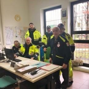 La segreteria dei volontari in un momento di formazione delle squadre operative